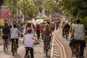 Critical Mass auf der Reuterstraße Bonn