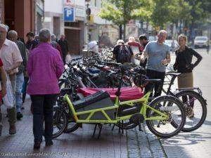 Lastenräder brauchem zum Parken mehr Platz.