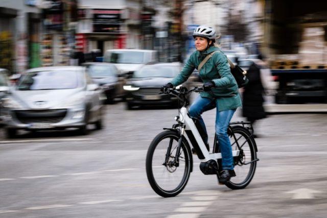 Radtour durch die Stadt mit dem Pedelec