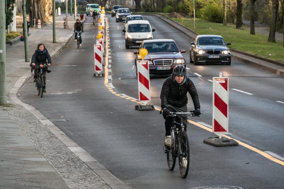 temporärer Radweg Berlin