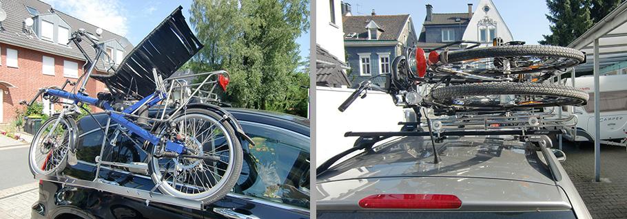 Fahrradträger Dach liegend
