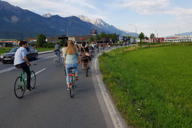 Critical Mass Innsbruck – Protestfahrt mit Alpen-Panorama