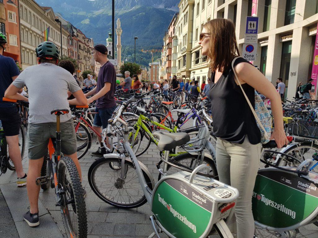 Critical Mass Innsbruck – Treffpunkt Annasäule