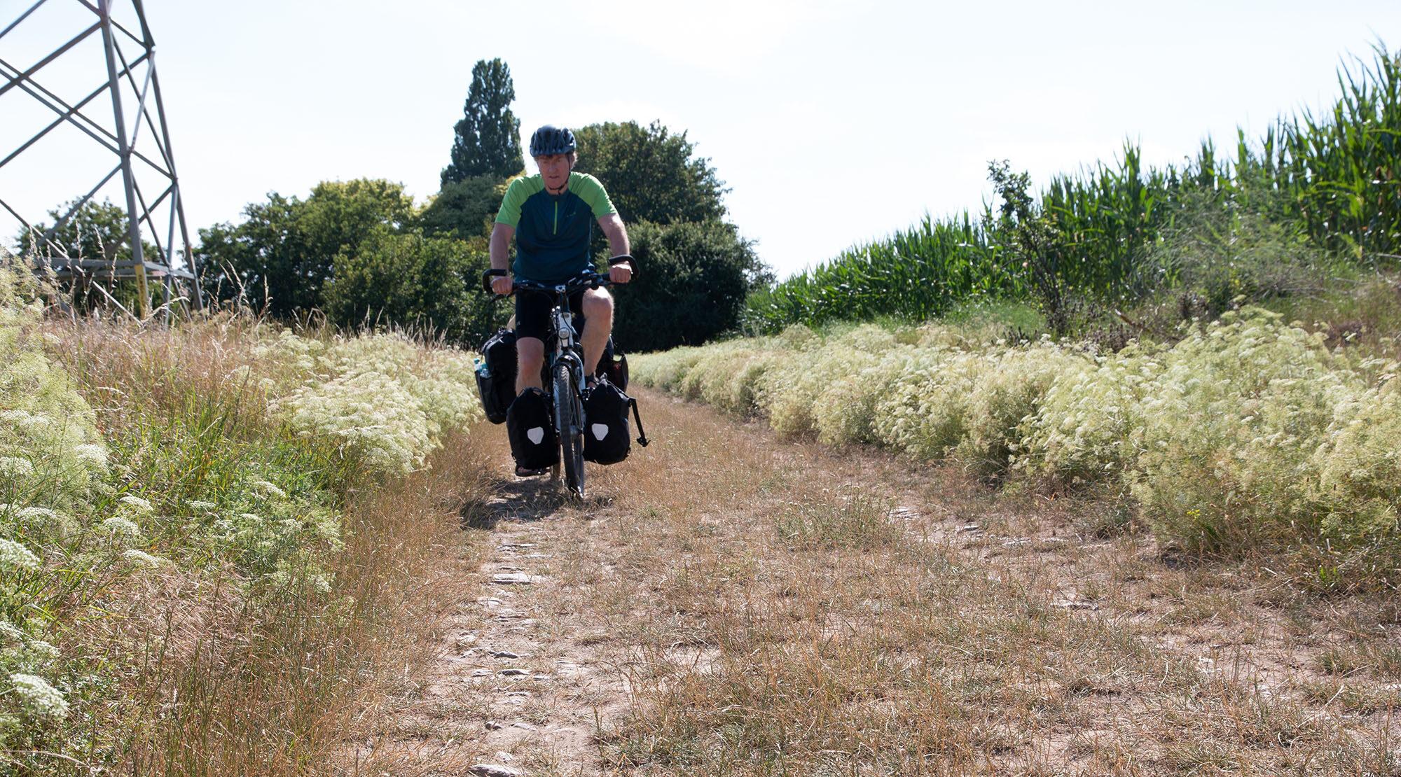 Radroute auf Sand Bikefolks