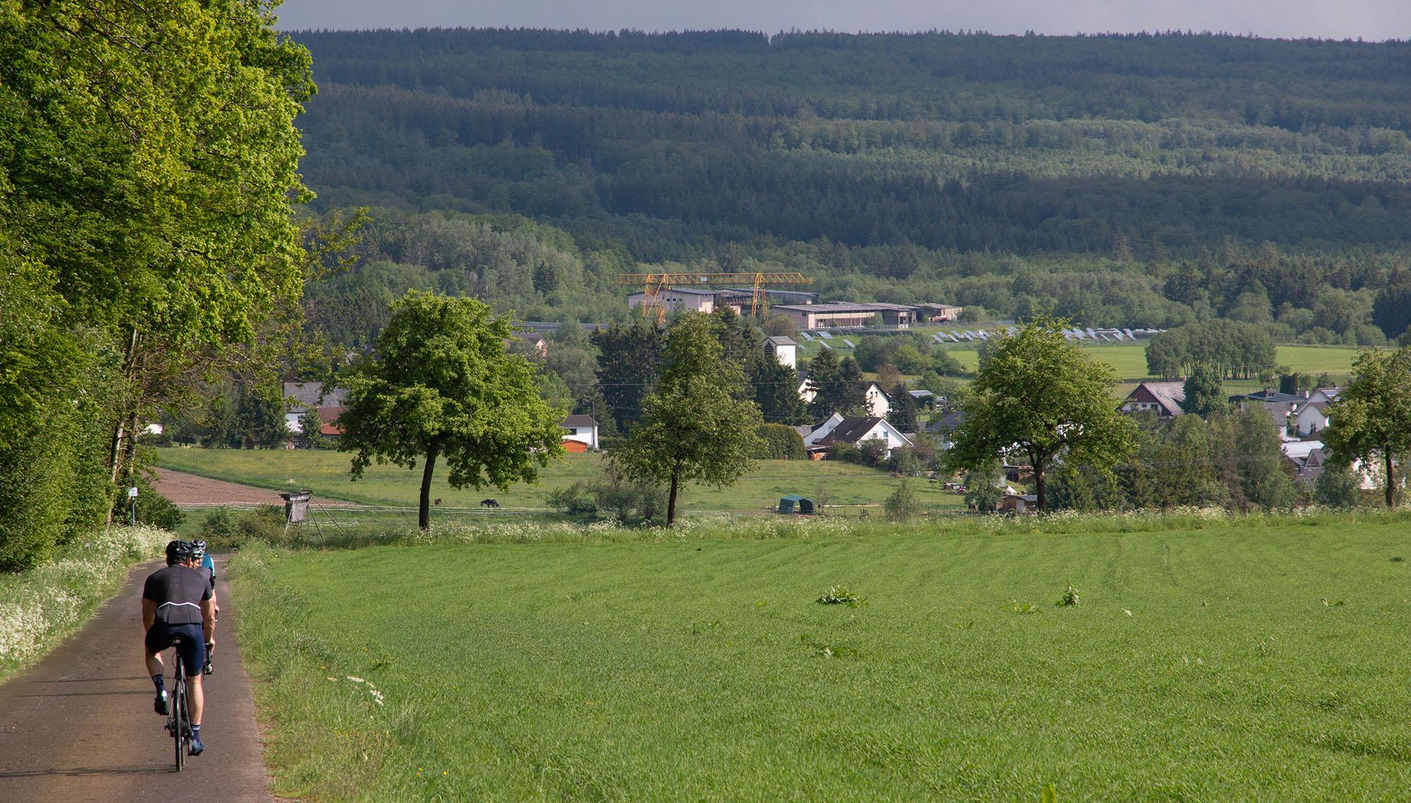 Hunsrück Landschaft am Radweg