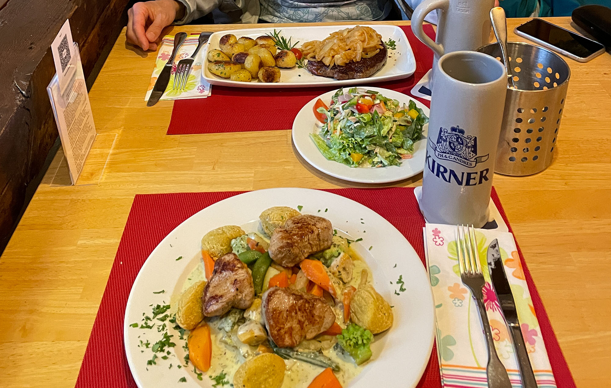 Abendessen im Landgasthof